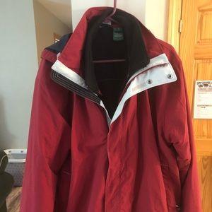 LL Bean hooded lined ski jacket